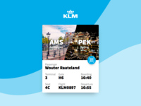 DailyUi 024 - KLM Boarding pass