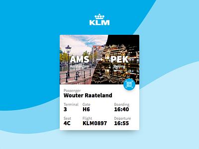 DailyUi 024 - KLM Boarding pass boarding pass ux ui pass react design 024 dailyui