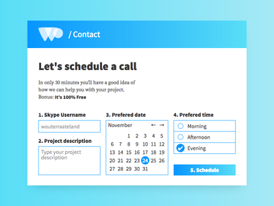 DailyUi 028 - Contact Us call form contact react design 028 dailyui