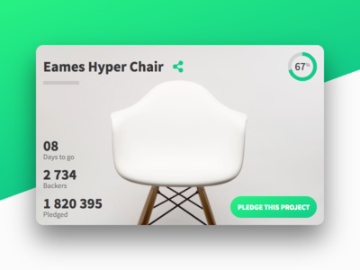 DailyUi 032 - Crowdfunding Campaign funding green card campaign ux ui react design 032 dailyui