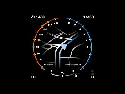 DailyUi 034 - Car Dashboard ui navigation dashboard react design 034 dailyui