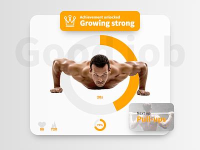 DailyUi 041 - Workout Tracker achievement ux ui workout react design 041 dailyui
