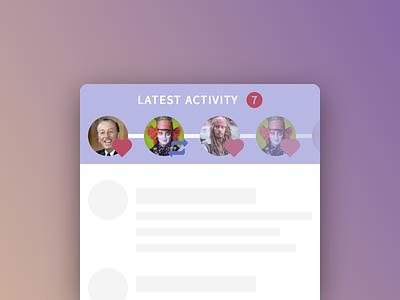 DailyUi 047 - Activity Feed feed ui activity mobile react 047 dailyui