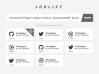 DailyUi 050 - Job Listing