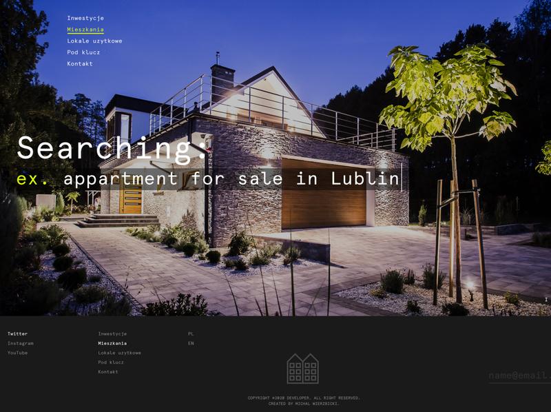 developerZ landing page corportate light ux webdesign poland web design minimal website ui