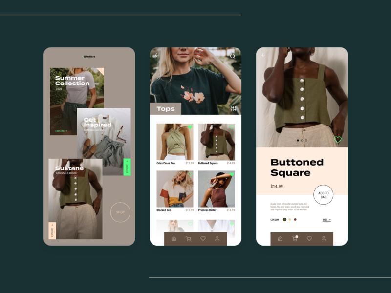 Fashion E-commerce App Concept mobile app design mobile design mobile ui mobile app mobile modernism modern design app apparel fashion app fashion edgy modern customer experience ux ui design