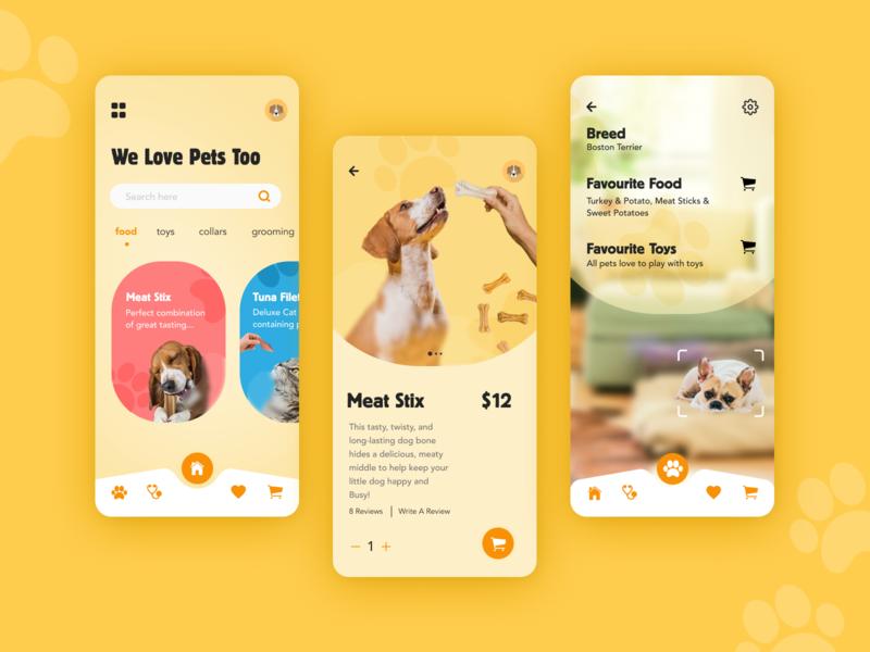 Pet Essentials mobile app design mobile design mobile app mobile ui pet care pets fun modern mobile typography customer experience graphic design ux ui design