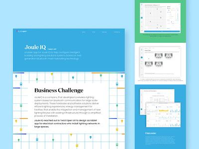 JouleIQ - Tablet App typography illustration animation web customer experience website ui ux graphic design design
