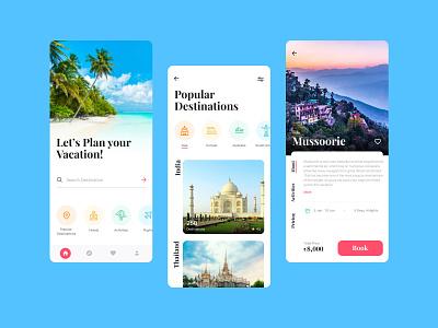 Travel Booking Mobile App website web graphic design ux ui design