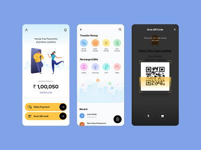 Digital Payment App customer experience graphic design ui ux design