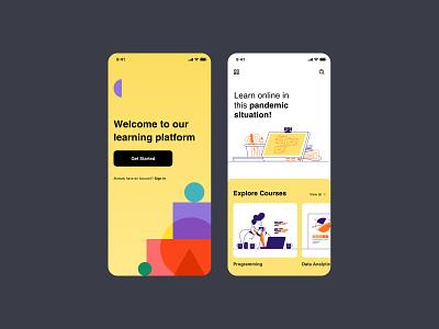 Online Learning App customer experience website graphic design ui ux design