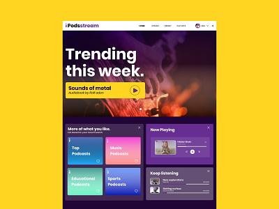 Audio Book Web App branding web illustration customer experience website graphic design ux ui design