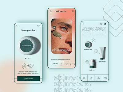 Skinwear App website branding logo illustration customer experience web graphic design ux ui design