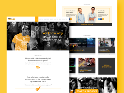 Showcase website for a sports fan engagement company