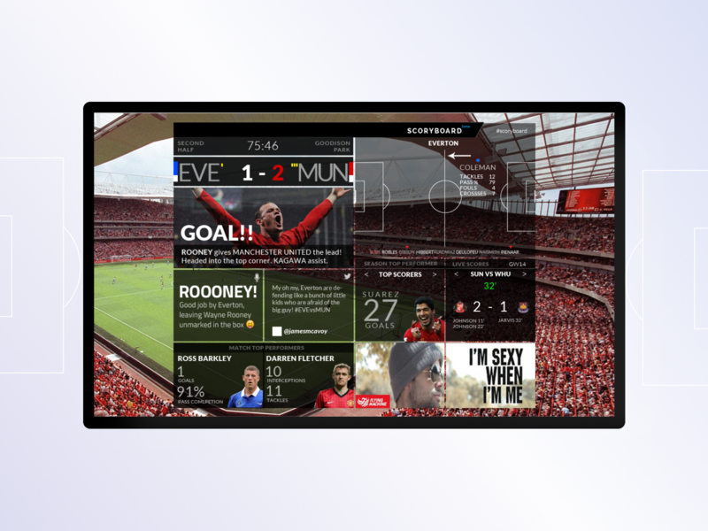 Score reporting dashboard that connects with fans customer experience sports graphic design web design ui ux