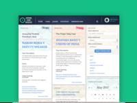 Supreme Court Observer website UX design