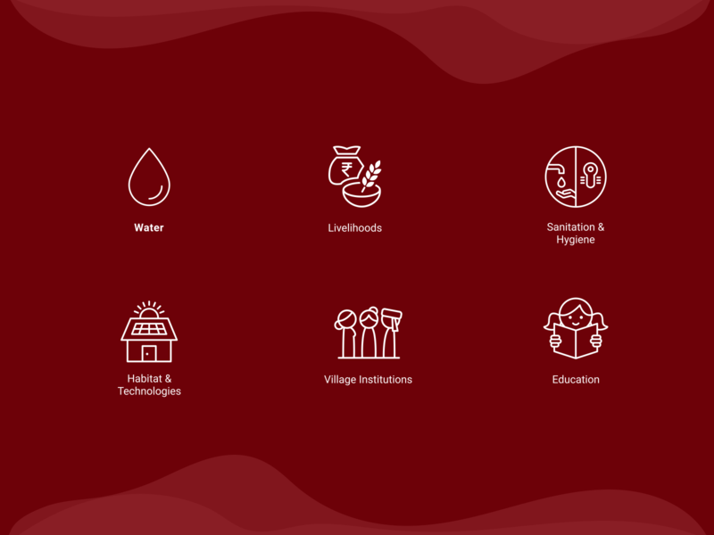 Gram Vikas   Iconography iconography hygiene water livelihood water icon maroon line icons simple design icons set icons design customer experience icon web illustration vector website ui graphic design design