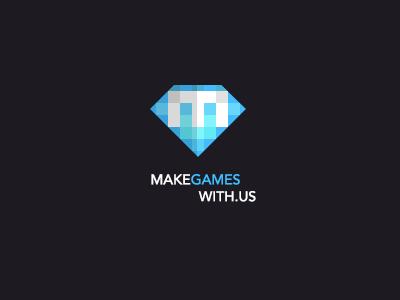 Pixel Logo makegameswith.us logo pixel gaming logo games