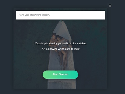 Create Brainwriting Session Popup uiux simple ui popup