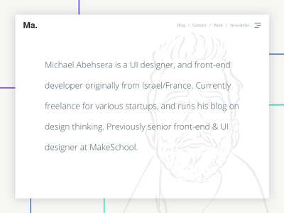 My Portfolio (WIP) simple ux ui portfolio