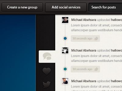 Social Feed Experiment  social feed social ui design