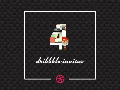 4 Dribbble Invites dribbble dribbble invites