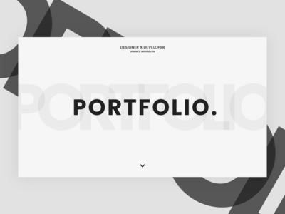 Portfolio minimal web design