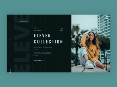 fashion web landing page design