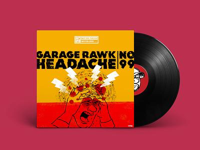 Garage Rock Headache No. 99 affinity photo procreate playlist garage rock design illustration allan lorde
