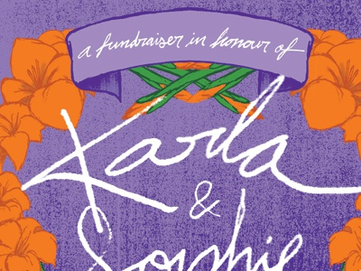 Karla and Sophie poster fundraiser gig poster union sound hall allan lorde