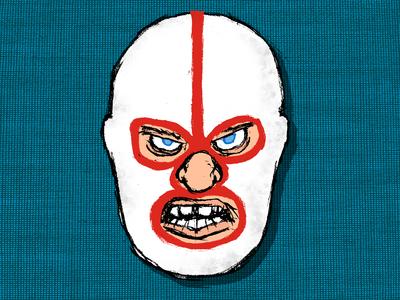 The Intelligent, Sensational Destroyer! illustration masked wrestler dick beyer the destroyer
