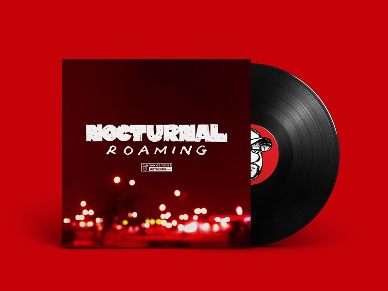 Nocturnal Roaming blurry photo custom lettering lettering playlist cover spotify playlist