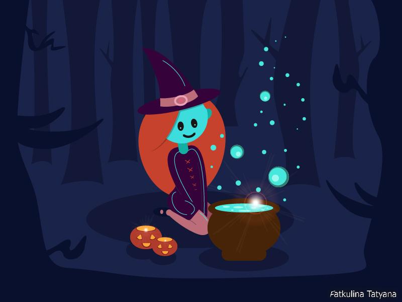 witch волшебница ведьма вектор иллюстрация