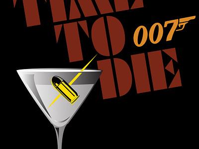 Shot not stirred spy 007 branding 70s vector logo design adobe illustrator illustration
