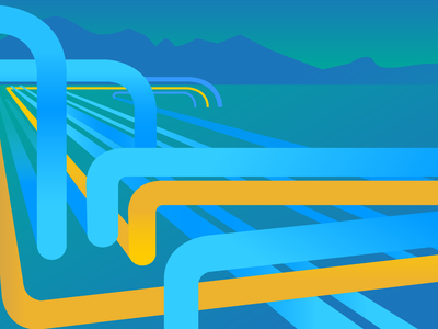 Data Pipeline adobe illustrator infographic web vector illustration