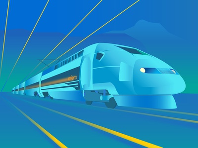 TGV Speed iot adobe illustrator design web infographic vector illustration