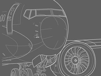 737 NX cad 737 design airplanes vector illustration boeing