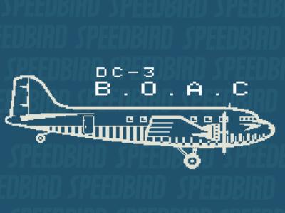 BOAC DC-3 Pixel Art