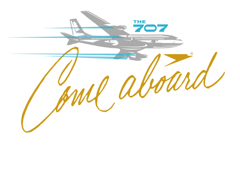 Come Aboard! branding airplanes illustration boeing 707
