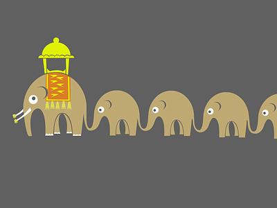 Baby Elephant March cute cute fun funny cute animal animals fun adobe illustrator vector illustration