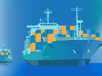 Ship IoT! web iot vector adobe illustrator illustration