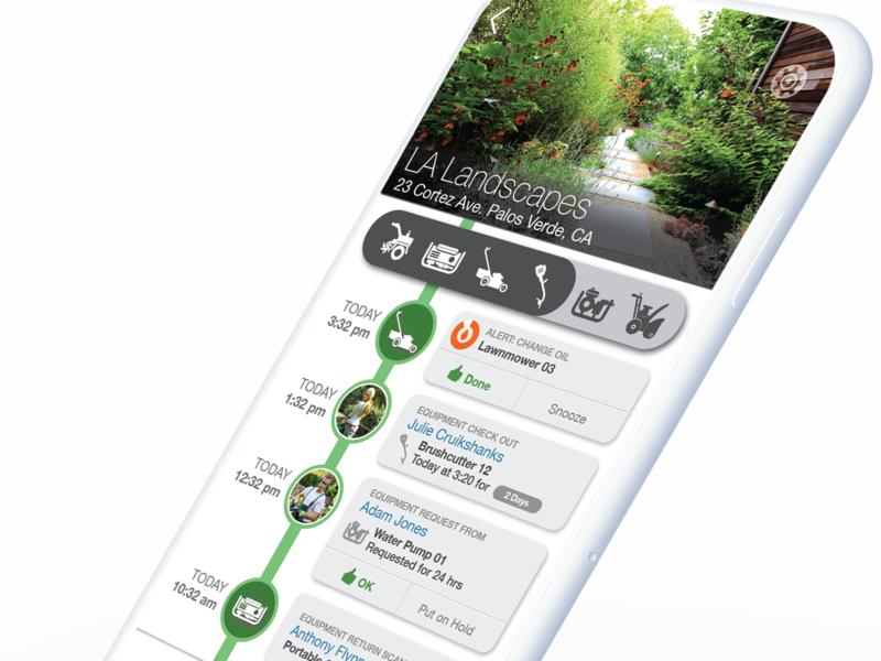 Power Equipment Management App for Professional Services iot adobe illustrator filters mobile ui visual design uiux