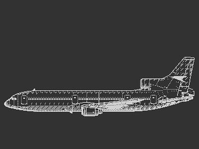 L1011 Pixel Art 70s fun airplanes vector adobe illustrator illustration