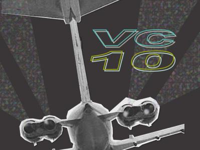 VC10 Warhol Style logo airplanes design illustration