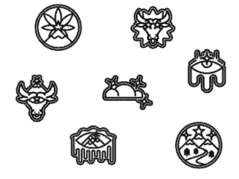 Recent Rejects logo icon texture illustration