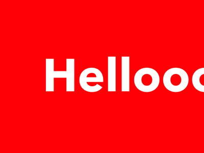 Helloooooo avenir next red precode hello dribbble