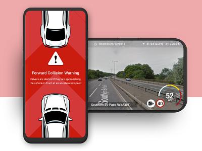 Dashcam app with built-in AI | Startup Sprint ui design android ios interface design app design ux design ux ui  ux ui startup sprint product design design thinking