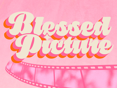 Blessed Picture Podcast Artwork pink logo design film podcast podcast logo podcast art logo illustration branding