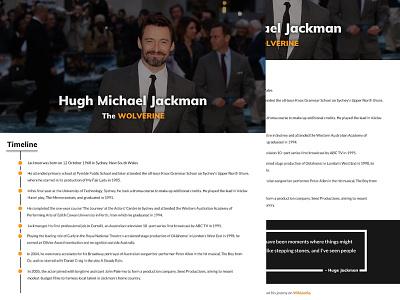 HMJ Tribute Page Design front-end ui design web design