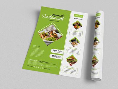 Food Flyer Design Template best logo design vector food illustration best design food flyer flat design flyer flyers example flyer template flyer design